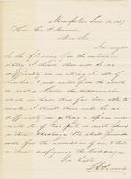 Letter from THOMAS E. POWERS to GEORGE PERKINS MARSH, dated June                             16, 1857.