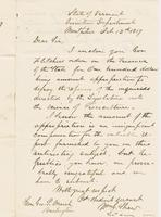 Letter from WILLIAM GOODHUE SHAW to GEORGE PERKINS MARSH, dated                             October 12, 1857.