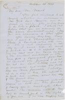 Letter from SPENCER FULLERTON BAIRD to GEORGE PERKINS MARSH,                             dated October 15, 1854.