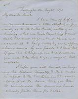 Letter from SPENCER FULLERTON BAIRD to GEORGE PERKINS MARSH,                             dated May 21, 1870.
