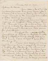 Letter from SPENCER FULLERTON BAIRD to GEORGE PERKINS MARSH,                             dated October 11, 1872.