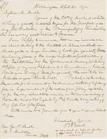 Letter from SPENCER FULLERTON BAIRD to GEORGE PERKINS MARSH,                             dated April 20, 1874.