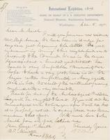 Letter from SPENCER FULLERTON BAIRD to GEORGE PERKINS MARSH,                             dated December 6, 1875.