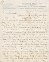 Letter from SPENCER FULLERTON BAIRD to GEORGE PERKINS MARSH,                             dated February 17, 1876.