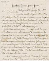 Letter from SPENCER FULLERTON BAIRD to GEORGE PERKINS MARSH,                             dated July 27, 1880.