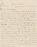 Letter from SPENCER FULLERTON BAIRD to GEORGE PERKINS MARSH,                             dated October 2, 1880.