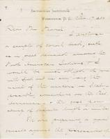 Letter from SPENCER FULLERTON BAIRD to GEORGE PERKINS MARSH,                             dated February 17, 1882.
