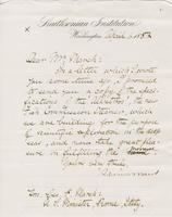 Letter from SPENCER FULLERTON BAIRD to GEORGE PERKINS MARSH,                             dated April 1, 1882.