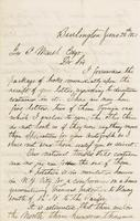 Letter from Albert G. PEIRCE to GEORGE PERKINS MARSH, dated June                             28, 1861.