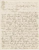 Letter from ALBERT G. PEIRCE to GEORGE PERKINS MARSH, dated July                             27, 1864.