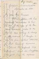Letter from CHARLES ELIOT NORTON to CAROLINE CRANE MARSH, dated                             September 14, 1881.