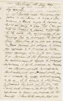 Letter from CHARLES ELIOT NORTON to GEORGE PERKINS MARSH, dated                             May 10, 1864.