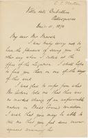 Letter from CHARLES ELIOT NORTON to GEORGE PERKINS MARSH, dated                             December 11, 1870.