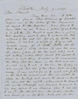 Letter from THOMAS WILLIAM SILLOWAY to GEORGE PERKINS MARSH,                             dated July 9, 1857.