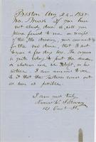 Letter from THOMAS WILLIAM SILLOWAY to GEORGE PERKINS MARSH,                             dated August 24, 1857.