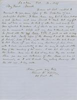 Letter from THOMAS WILLIAM SILLOWAY to GEORGE PERKINS MARSH,                             dated October 2, 1857.
