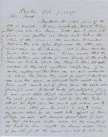 Letter from THOMAS WILLIAM SILLOWAY to GEORGE PERKINS MARSH,                             dated October 7, 1857.