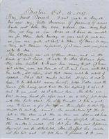 Letter from THOMAS WILLIAM SILLOWAY to GEORGE PERKINS MARSH,                             dated October 15, 1857.