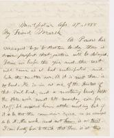 Letter from THOMAS WILLIAM SILLOWAY to GEORGE PERKINS MARSH,                             dated April 27, 1858.
