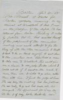 Letter from THOMAS WILLIAM SILLOWAY to GEORGE PERKINS MARSH,                             dated April 30, 1858.