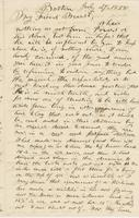 Letter from THOMAS WILLIAM SILLOWAY to GEORGE PERKINS MARSH,                             dated July 27, 1858.