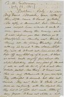 Letter from THOMAS W. SILLOWAY to GEORGE PERKINS MARSH, dated                             July 31, 1858.