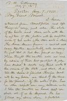 Letter from THOMAS WILLIAM SILLOWAY to GEORGE PERKINS MARSH,                             dated August 7, 1858.