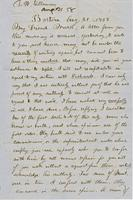 Letter from THOMAS WILLIAM SILLOWAY to GEORGE PERKINS MARSH,                             dated August 21, 1858.