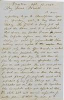 Letter from THOMAS WILLIAM SILLOWAY to GEORGE PERKINS MARSH,                             dated September 15, 1858.
