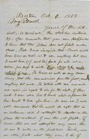 Letter from THOMAS WILLIAM SILLOWAY to GEORGE PERKINS MARSH,                             dated October 6, 1858.