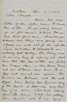Letter from THOMAS WILLIAM SILLOWAY to GEORGE PERKINS MARSH,                             dated December 1, 1858.