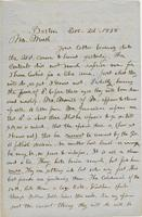 Letter from THOMAS WILLIAM SILLOWAY to GEORGE PERKINS MARSH,                             dated December 22, 1858.