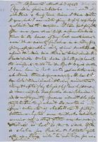 Letter from HIRAM POWERS to GEORGE PERKINS MARSH, dated November                             4, 1864.