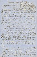 Letter from HIRAM POWERS to GEORGE PERKINS MARSH, dated December                             22, 1864.