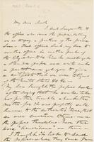 Letter from HIRAM POWERS to GEORGE PERKINS MARSH, dated April 5,                             1867.
