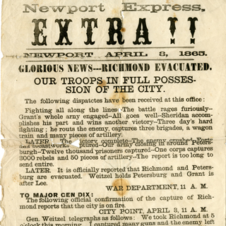 Civil War Broadsides and Ephemera