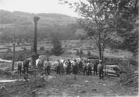 Sawmill with Workers and Draught Horses in Front, Jamaica, Vt.