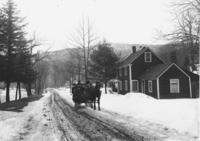 Mrs. Willard taking people in a sleigh to church, South Newfane, Vt.