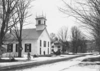 Mrs. Willard delivering people in a sleigh to church, South Newfane, Vt.