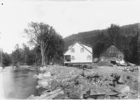 River flood damage at John Hagenhauer's house, South Newfane, Vt.