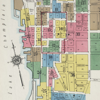 Fire Insurance Maps of Burlington, Vermont, 1869