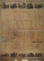 Map of Burlington, Vermont, 1853