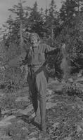 Herbert Wheaton Congdon with a porcupine