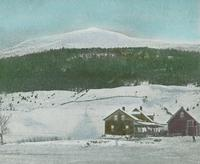 Lincoln Peak or Mount Abraham and Elden Atkins Farm
