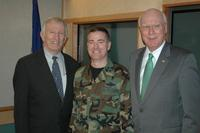 Portrait of Patrick Leahy, James Jeffords and Michael Dubie