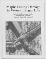 Maple tubing damage in Vermont sugar lots