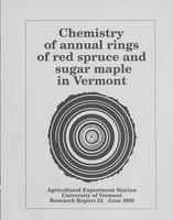 Chemistry of annual rings of red spruce and sugar maple in Vermont