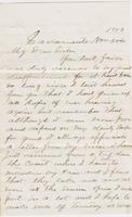 Edward C. Smith to Henrietta Fletcher, 1873 November 30 and Invoice for  [Hack Raymon?], 1873 December 1