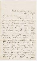 Ashley Dixon to [Andrew Craig?] Fletcher, 1876 August 4