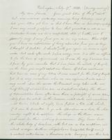 Letter to Nathan and Mary Hill, July 17, 1842